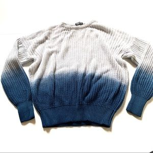 American apparel ombré white blue sweater small